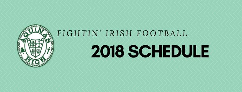 Aquinas Football Schedule